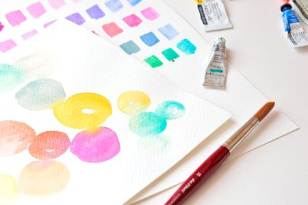 Learn all there is to know about watercolour painting in the 'Beginner's Watercolour Painting' Class at Tea & Crafting in Camden, London.