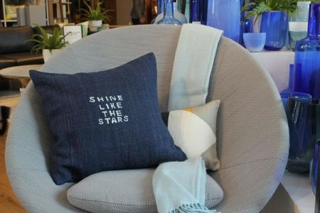 Learn to embroider your own messages onto your home furnishings in the 'Hand Embroidered Lettering' workshop at the New Craft House shop in West Elm, London.