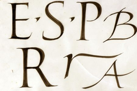 Calligraphy: Drawn and painted lettering with a pointed brush