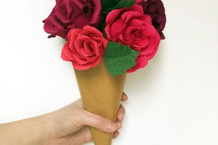 Paper Rose Bouquet Workshop