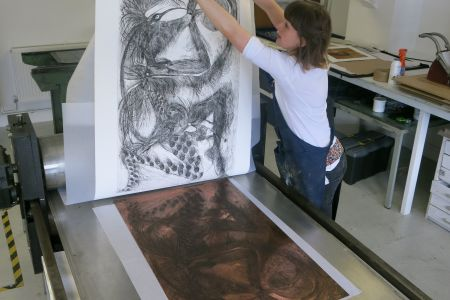 Enjoy this etching course run over 5 Tuesday evenings with plenty of time to develop different techniques. You'll cover etching with hard ground on copper, soft ground on steel, sugarlift aquatint on zinc and etching with aluminium.