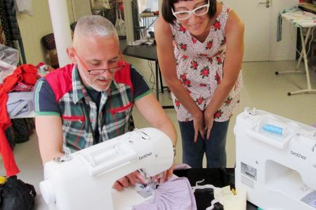 Advanced sewing class in Hackney - in this class you will take your sewing skills to another level by learning how to upcycle old clothes into a skirt or shorts