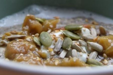The result of a Porridge making class in London