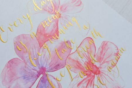 Improvers Modern Calligraphy with Metallic Ink