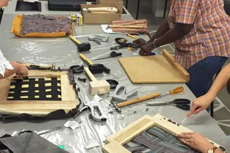 Join this hands-on upholstery class and learn how to re-upholster a drop in seat from scratch!