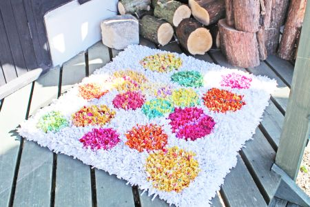 Learn all the rag rug basics including how to use the rag rug equipment, how to select and prepare materials and how to do the two types of rag rugging.