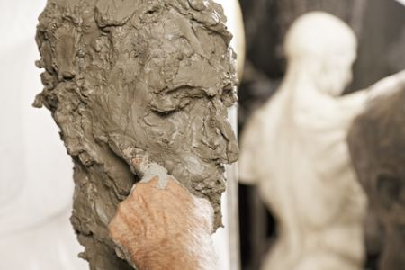 Clay Portrait From Life