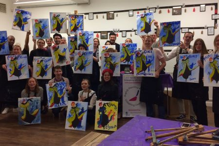 Arrange a fun evening, with no experience needed to have an inspired evening of social painting at your home or office with Popup Painting, London.