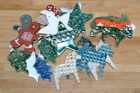 Parent & Child Ceramic Christmas decorations & votives workshop