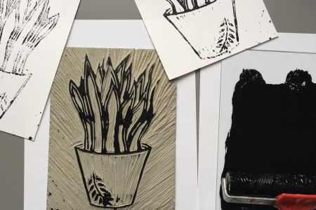 Linocut printing - Alternative Christmas Cards