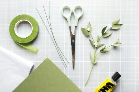 Botanical Paper Art : Mistletoe