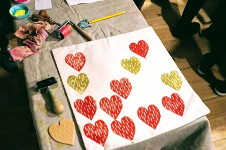 Make Your Own Lino Printed Cushions, Tote Bags and Tea Towels!