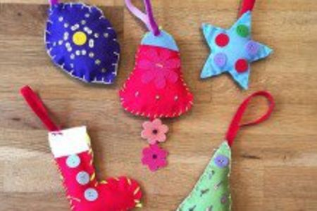 For Kids: Hand-Sew your own Christmas Ornaments