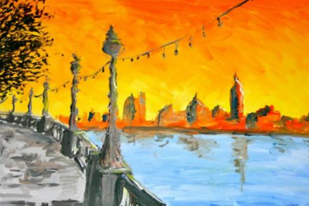 Prosecco and Painting Waterloo Bridge: Soho