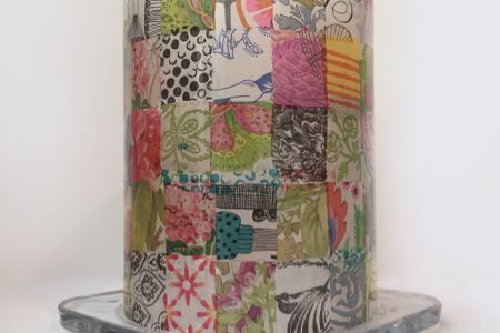 Glass Decoupage Workshop: Upcycle a Storm Lamp