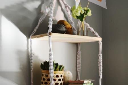 Make a Stunning Set of Macrame Shelves
