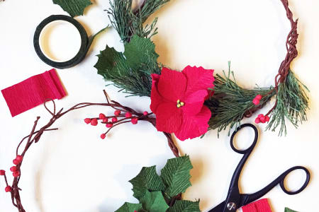 Paper Christmas Wreath Workshop in Shoreditch