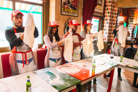 Traditional Italian Pizza Making with Free Cocktail