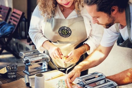 Pop-up Handmade Pasta Workshop with Organic Wine and Italian Bites