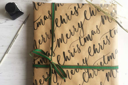 Christmas Calligraphy Wrapping Paper Workshop