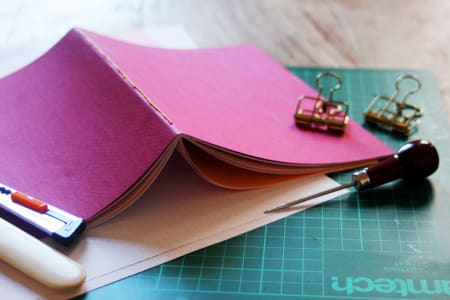 Create a saddle-stitch notebook - kit included!