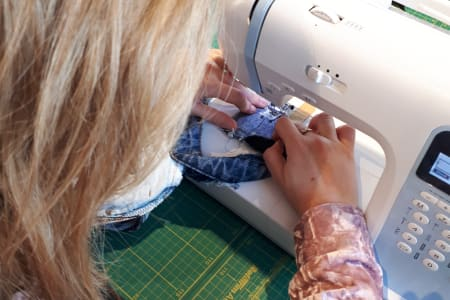 Learn to sew with a machine