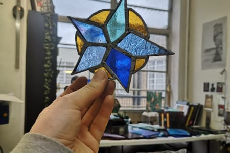 Make a Stained Glass Hanging Decoration with the Copperfoil Technique
