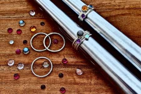 Stacking Rings & Gemstone Setting