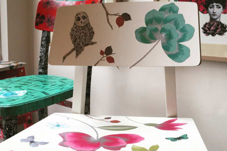 Upcycle Furniture with Decoupage