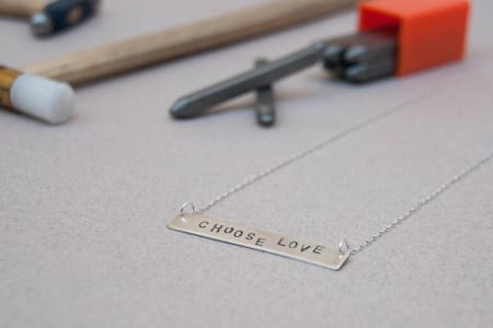 Silver Bar Necklace workshop