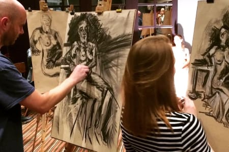 Drink and Draw - Life Drawing Class in Battersea