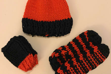 Learn to Knit a Beanie Hat or Slipper Socks