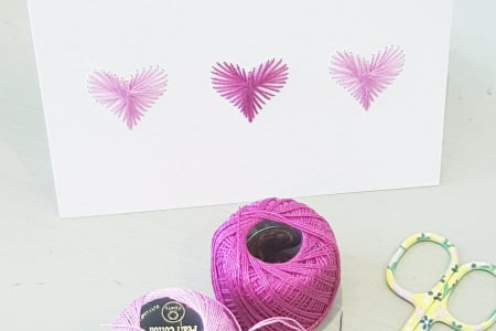 String Art - Make a beautiful heart card for that special someone!