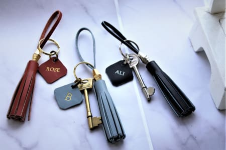 Leather Key Ring or Bag Charm Workshop