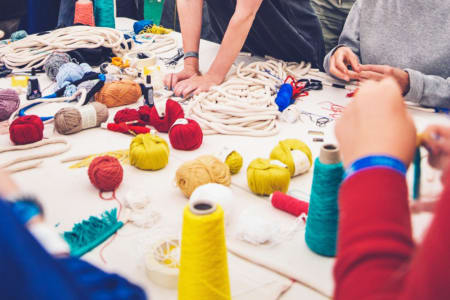 Rope and Textile Jewellery Workshop at Obby East Village
