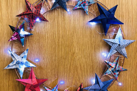 Nordic Stars - Christmas Origami Wreath Workshop