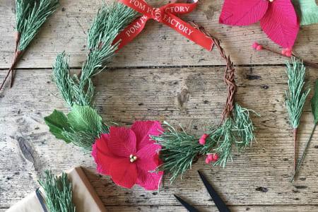 Paper Christmas Wreath Workshop