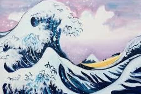 Paint the great wave!
