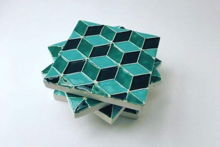Make your own Ceramic Tiles with Geometric Pattern
