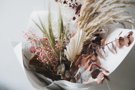 Dried flower bouquet workshop!