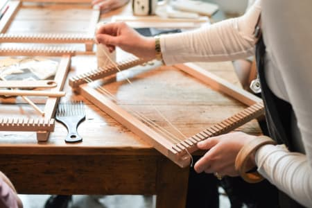Introduction to Weaving at Heron Hawker, Hornsey