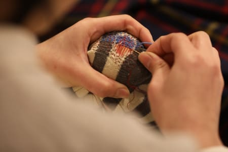 Learn to Darn and mend your woolly goods