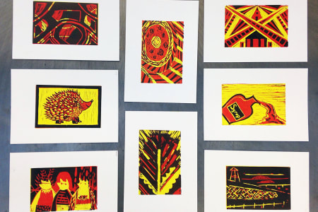 Learn to Lino Cut Your Own Prints