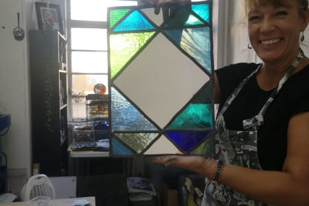 Stained Glass Mirror Workshop (Leaded method)