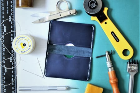 Make a Leather Card Wallet or Coin Purse