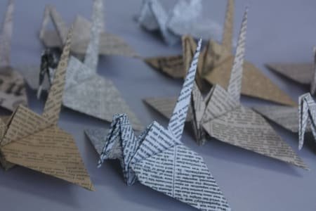 Make Origami with old newspapers
