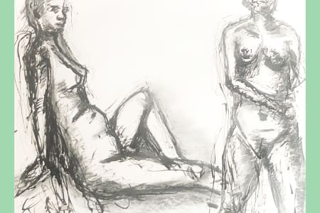 Life Drawing in Stratford, improve your figure drawing in this small art class.