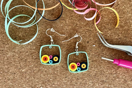 Paper Jewellery - Make a Pair of Earrings