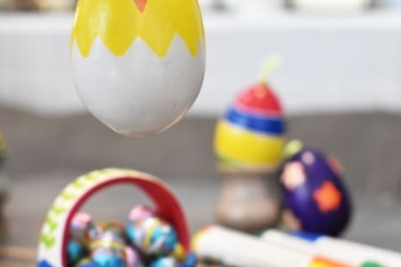 Easter Air Drying Pottery Painting