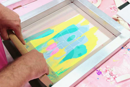 Textile Screen Printing with Shikira Alleyne-Samuel